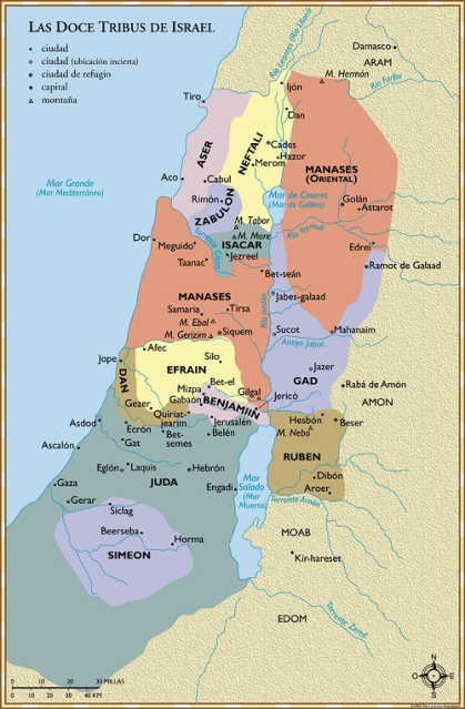 Doce-Tribus-Israel-LBLA-Mapas