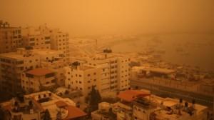 Una toma aérea de la Franja de Gaza