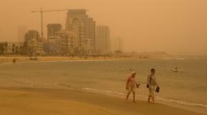 Vista de la playa del Tel Aviv y Jaffa.