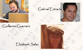 hosts con Elizabeth y Gabo