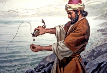 peter-catches-fish-with-coin-658x452