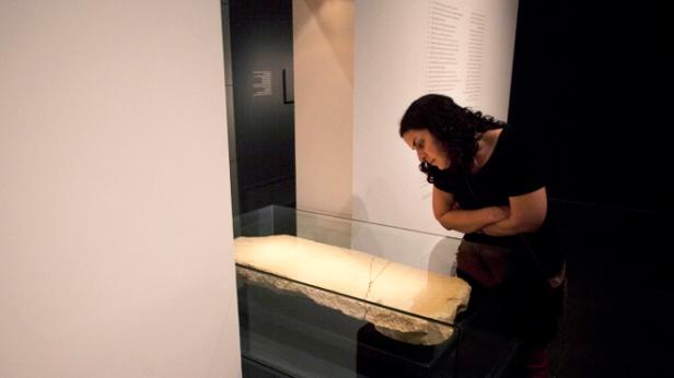 Mideast Israel-Mysterious Stone