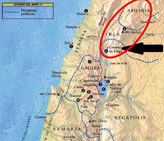 mapa monte Hermón