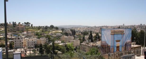 Vista hacia el monte moriah