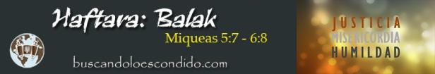 40. Haftara  Balak  Miqueas 5-7 a 6-8   Profetas_Los Libros Sellados