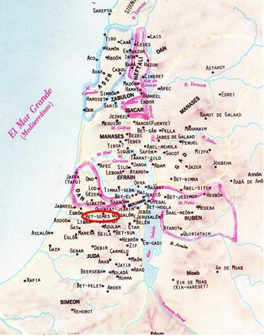 bet-semes-mapa