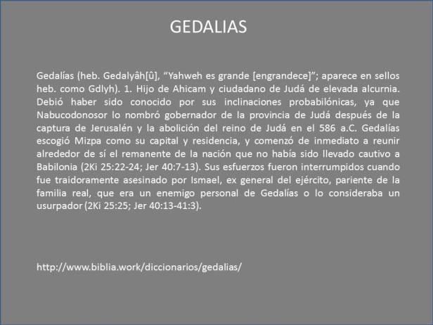 GEDALIAS