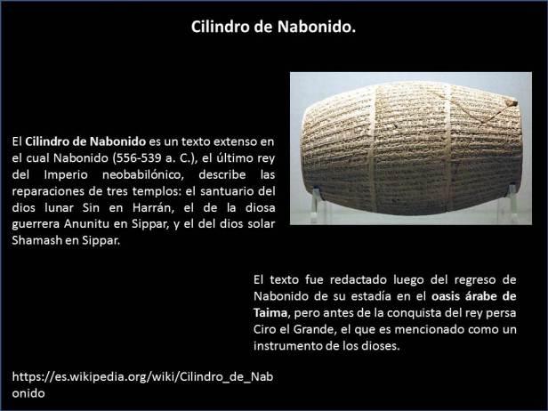 Cilibdro de Nabonido