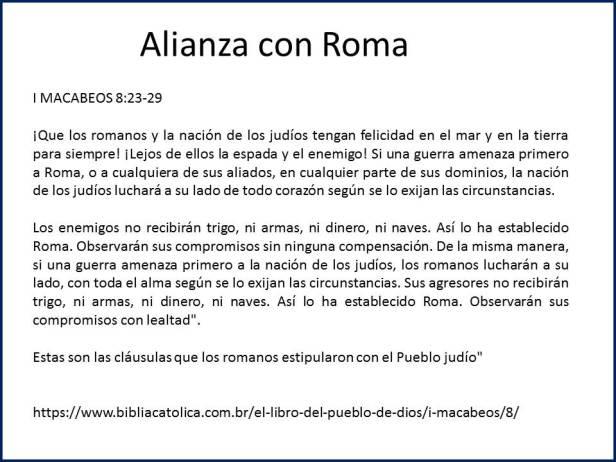 alianza con roma