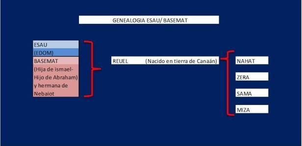 Genealogia ESAU con BASEMAT Hija de Ismael
